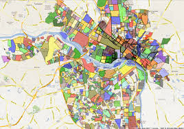 Richmond Virginia Map by Photo Cred Into The Neighborhood