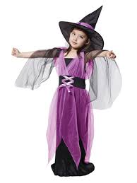Witch Halloween Costumes Girls Kids Girls Harry Potter Witches Purple Bats Cosplay Halloween