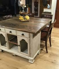 rustic kitchen island bright rustic kitchen island idea with wooden chairs 8038