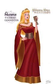 disney princess as game of thrones character aurora sleeping