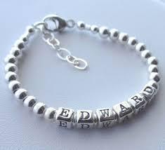 baby name bracelet boy girl solid sterling silver children boy name bracelet