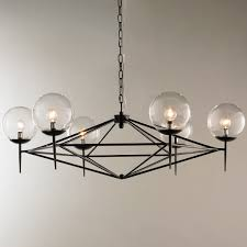 Globes For Chandelier Modern Pyramid Glass Globes Chandelier Shades Of Light