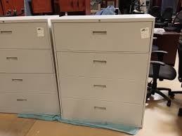 steelcase cabinets for sale used steelcase 4 drawer lateral file cabinet putty anderson s