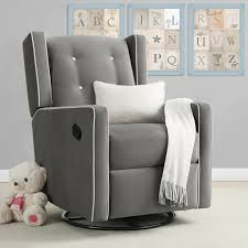 Recliner Rocking Chairs Nursery by Baby Relax Mikayla Swivel Gliding Recliner Hayneedle