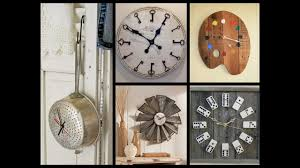 Home Decor Wall Clock Creative Wall Clock Ideas Recycled Home Decor Youtube