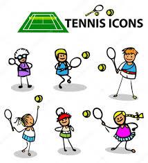 tennis icons fake cartoon sport u2014 stock photo realmcoy 1896372