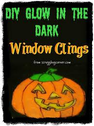 diy glow in the dark window clings gym craft laundry