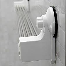 bathroom stainless steel folding towel rack strong suction cup