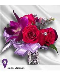 purple roses for sale big deal on purple and hot pink corsage by 1 800 flowers