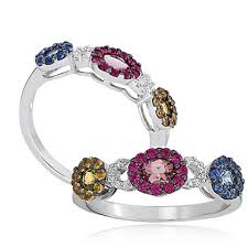 color sapphire rings images Amazing sapphire ruby and emerald silver ring low price gleam jpg