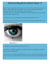 Eyes Are Sensitive To Light Interesting Facts About Eyes