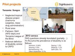 League For The Blind And Disabled Sightsavers Disability Data Disaggregation Pilot
