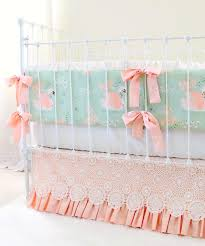 Baby Bedding Swan Baby Bedding For An Elegant Vintage Inspired Nursery