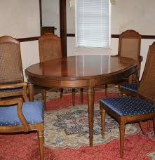 vintage drexel dining table and chairs ebth