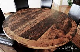 live edge round table reclaimed wood round table hardwood chairs in northern cottage blog