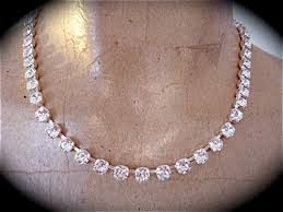 swarovski crystal stone necklace images Diamond cut 6mm necklace swarovski crystal roselachapelle on jpg