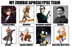 Zombie Team Meme - image 633241 my zombie apocalypse team know your meme