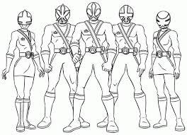 power rangers coloring pages print coloring