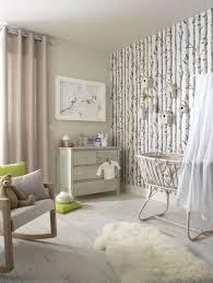 tapisserie chambre d enfant chambre bébé fille papier peint bouleau chambre bébé fille et