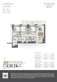 3 Floor Mall by Floor Plans Vida Residences Dubai Mall Downtown Dubai By Emaar