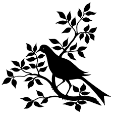 halloween owl silhouette bird branch silhouette black and white graphic vintage bird clip
