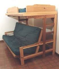 Bunk Bed Futon Combo Our Medium Wood Bunk Bed With Futon And Stairs Is Crafted With