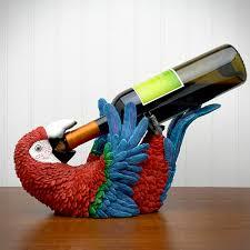 caribbean parrot bottle holder bottle holders wine bottle