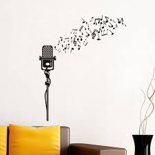 compare prices on music wall murals online shopping buy low price large size creative modern design diy musical notes microphone pattern vinyl wall stickers music bedroom home