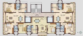 residential building plans kanak spaces radha residency