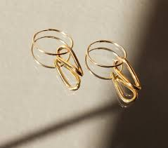 gold hoop earrings singulier gold hoop earrings