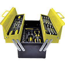 tool box workshop 50 piece tool kit in cantilever toolbox 1050 cromwell tools