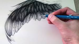 how to draw a wing youtube