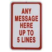personalized horizontal parking sign walmart com