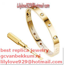 love bracelet gold plated images Knockoff cartier love bracelet yellow gold plated real with 10 d jpg