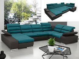canape turquoise canapé d angle panoramique convertible en tissu et simili boileau