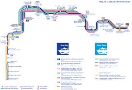 London Airports Map Map Of London River Bus Stations U0026 Lines