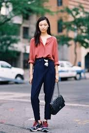 how to wear navy dress pants 45 looks women u0027s fashion