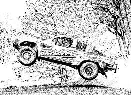 11 images of free coloring pages of rc cars racing truck