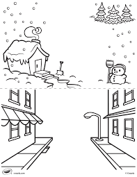 first pages winter and street coloring page crayola com