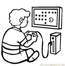 video game console coloring free games coloring pages
