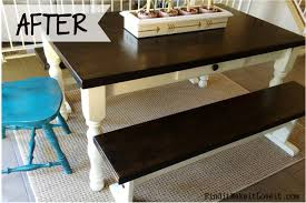 Farm Tables With Benches How To Re Stain A Table Farmhouse Table Makeover Find It Make
