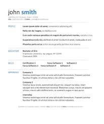 Professional Sample Resumes by Microsoft Templates Resume 22 Resumes Template