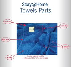 story home 6 piece 450 gsm cotton towel set navy and lime