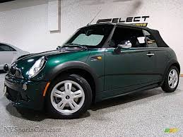 british racing green 2007 mini cooper convertible in british racing green metallic