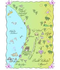 Map Of Puerto Rico Beaches by Maps And Totes U2013 Laura Hooper Calligraphy