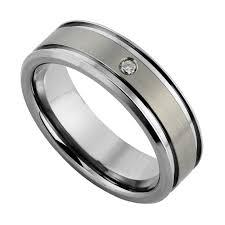mens wedding rings uk men s titanium 7mm diamond set ring