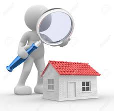 free house search 3d people man person with a magnifying glass and a house stock