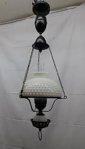Milk Glass Chandelier Vintage Hurricane Ceiling Light Fixture Chandelier Milk Glass