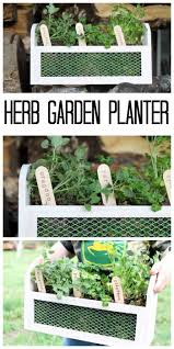 herb garden planter make this wood and metal box the country