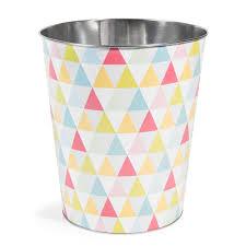 poubelle de chambre poubelle chambre fille inspirations et corbeille a motifs en matal